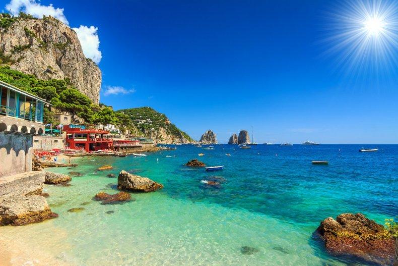 Пляж в Италии
